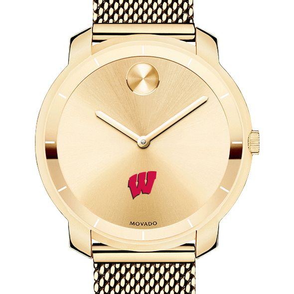 University of Wisconsin Women's Movado Gold Bold 36