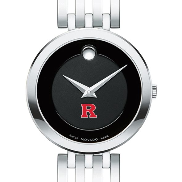 Rutgers University Women's Movado Esparanza Stainless Steel Museum with Bracelet