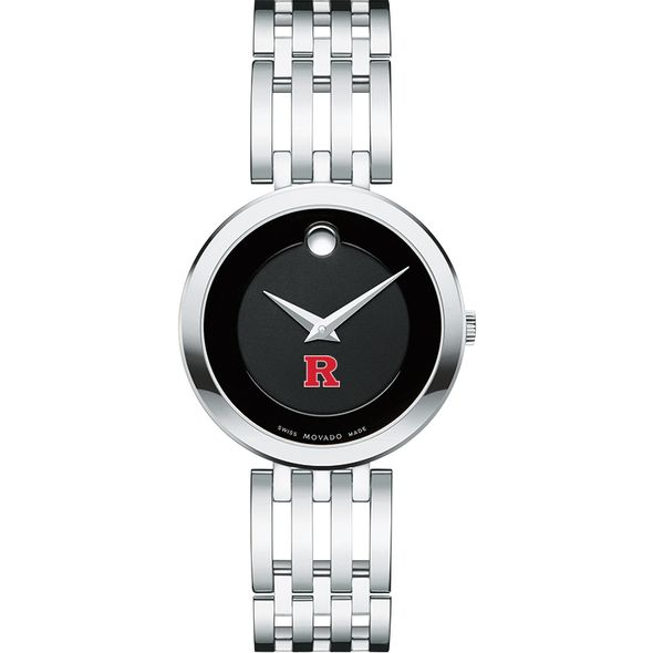Rutgers University Women's Movado Esparanza Stainless Steel Museum with Bracelet - Image 2
