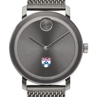 University of Pennsylvania Men's Movado BOLD Gunmetal Grey with Mesh Bracelet