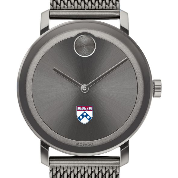 University of Pennsylvania Men's Movado BOLD Gunmetal Grey with Mesh Bracelet