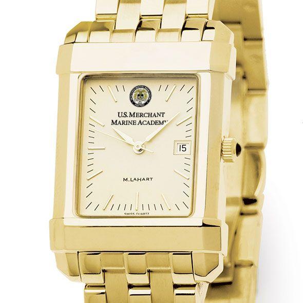 USMMA Men's Gold Quad Watch with Bracelet