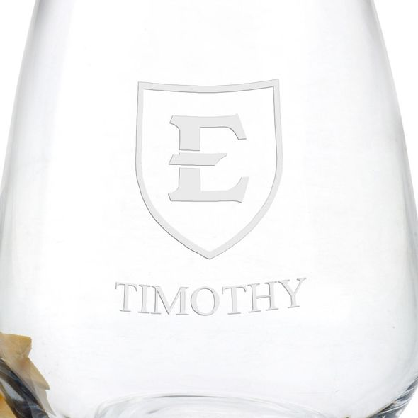 East Tennessee State University Stemless Wine Glasses - Set of 2 - Image 3