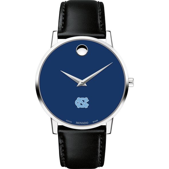 University of North Carolina Men's Movado Museum with Blue Dial & Leather Strap - Image 2