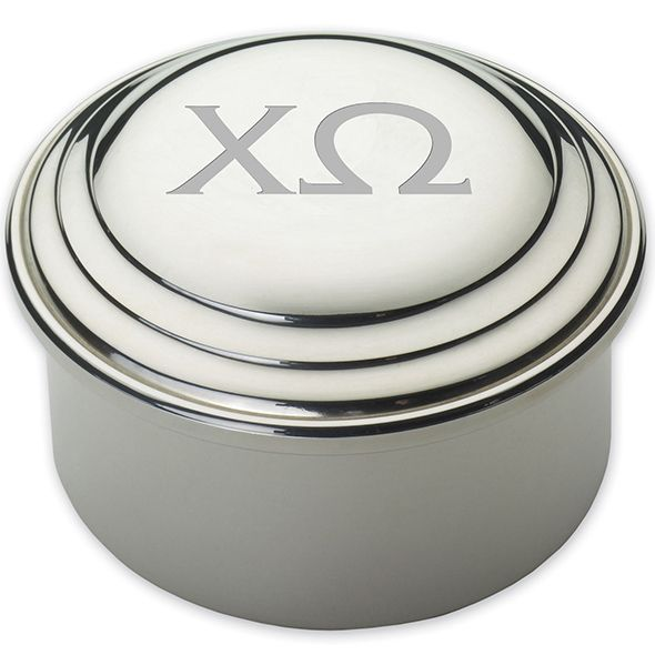 Chi Omega Pewter Keepsake Box - Image 2