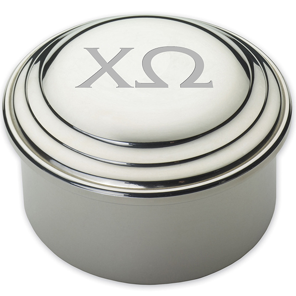 Chi Omega Pewter Keepsake Box - Image 2
