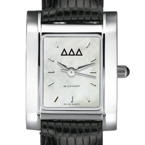 Delta Delta Delta Women's Mother of Pearl Quad Watch with Leather Strap - Image 2