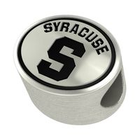 Syracuse University Enameled Bead in Black