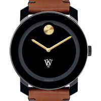 WashU Men's Movado BOLD with Brown Leather Strap