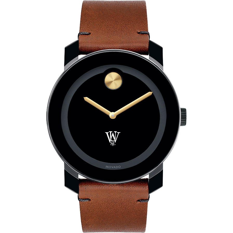 WUSTL Men's Movado BOLD with Brown Leather Strap - Image 2