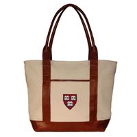 Harvard Needlepoint Tote