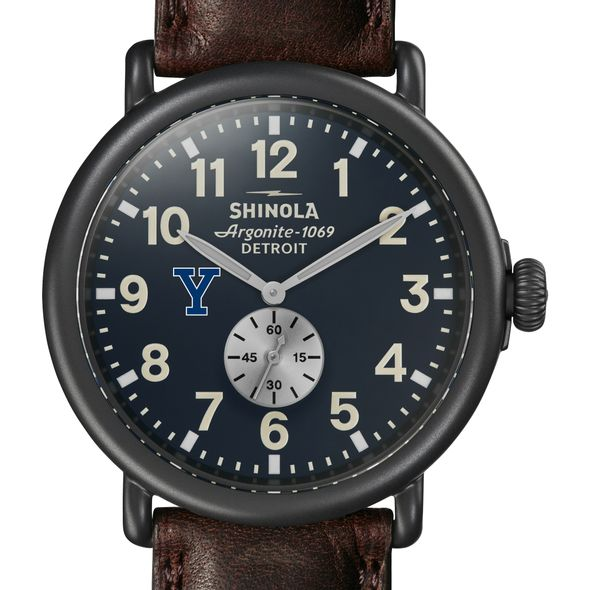 Yale Shinola Watch, The Runwell 47mm Midnight Blue Dial - Image 1