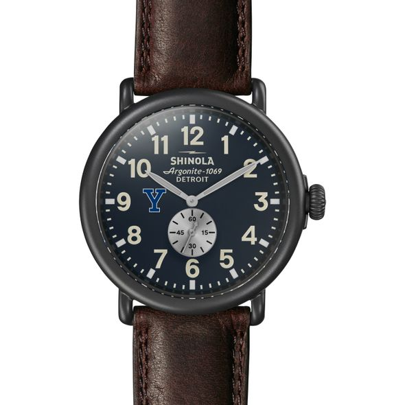 Yale Shinola Watch, The Runwell 47mm Midnight Blue Dial - Image 2