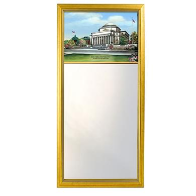 Columbia Eglomise Mirror with Gold Frame