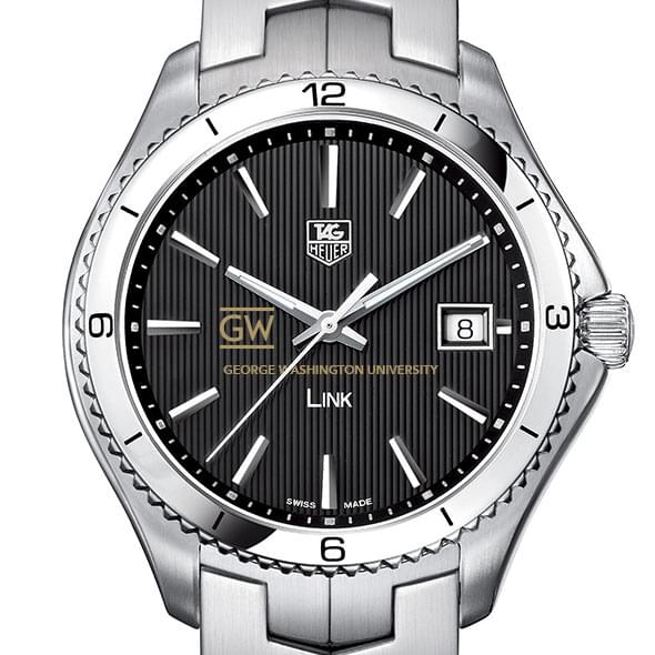 George Washington Men's Link Watch with Black Dial