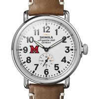Miami University Shinola Watch, The Runwell 41mm White Dial