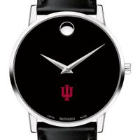 Indiana University Men's Movado Museum with Leather Strap