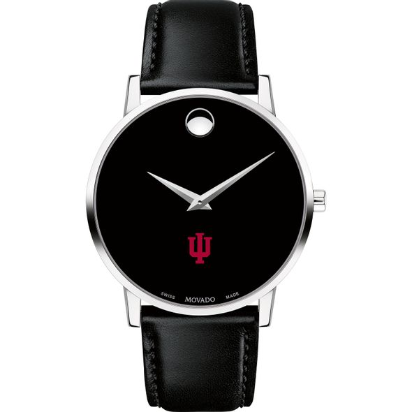 Indiana University Men's Movado Museum with Leather Strap - Image 2