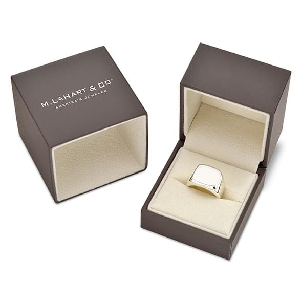 Cornell Sterling Silver Round Signet Ring - Image 8
