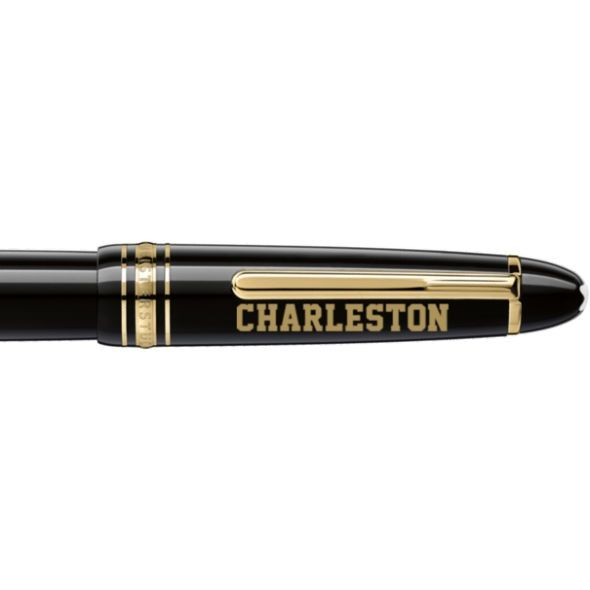 College of Charleston Montblanc Meisterstück LeGrand Rollerball Pen in Gold - Image 2