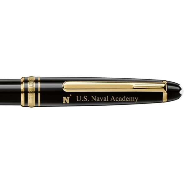 US Naval Academy Montblanc Meisterstück Classique Ballpoint Pen in Gold - Image 2