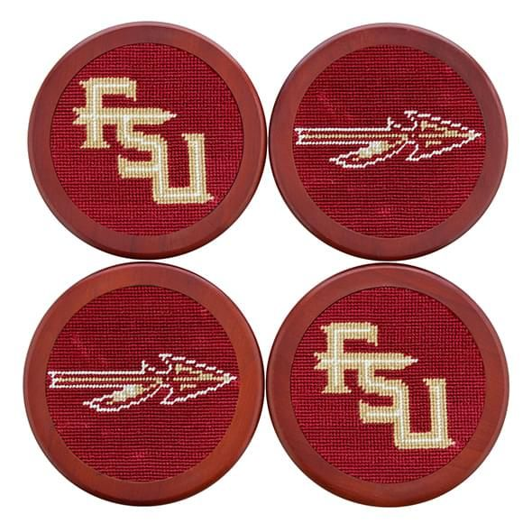 Florida State Needlepoint Coasters - Image 1