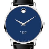 Columbia Business School Men's Movado Museum with Blue Dial & Leather Strap