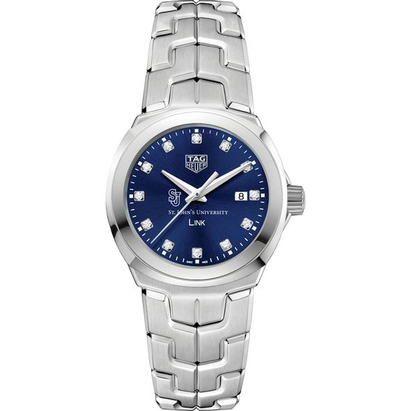 St. John's University Women's TAG Heuer Link with Blue Diamond Dial - Image 2