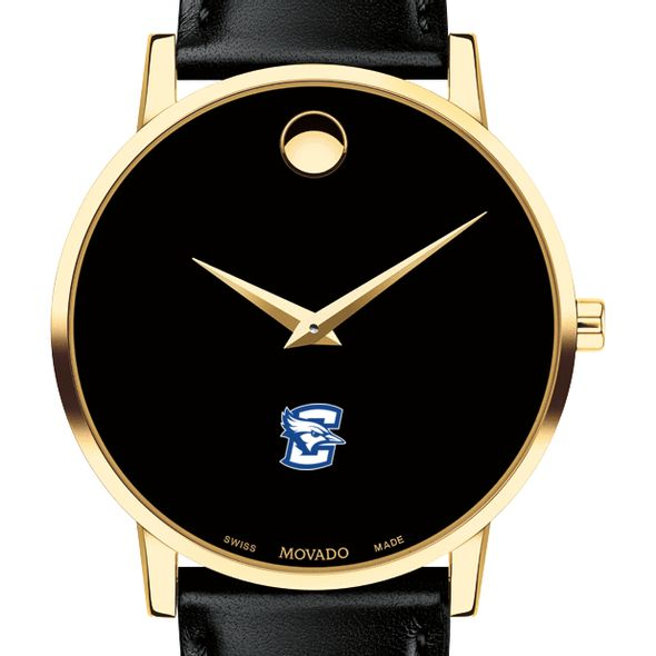 Creighton Men's Movado Gold Museum Classic Leather