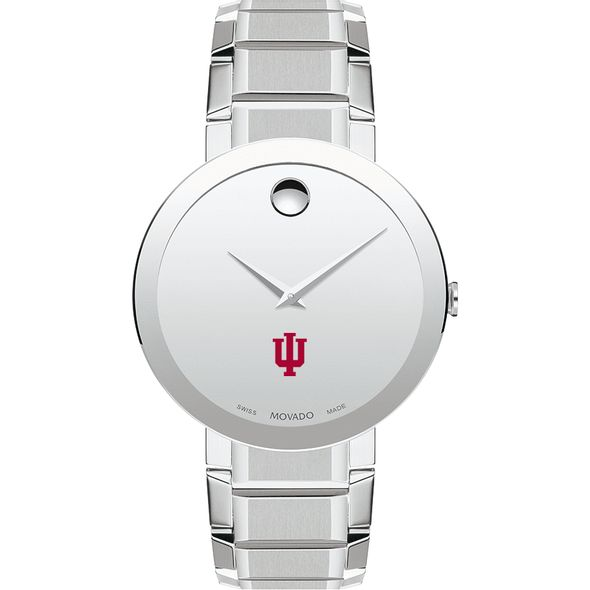 Indiana University Men's Movado Sapphire Museum with Bracelet - Image 2