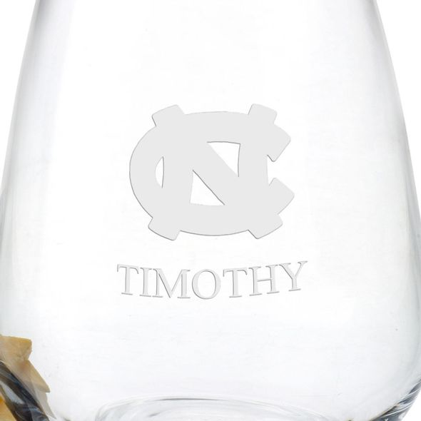 University of North Carolina Stemless Wine Glasses - Set of 2 - Image 3