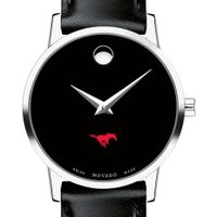 Southern Methodist University Women's Movado Museum with Leather Strap