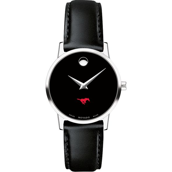 Southern Methodist University Women's Movado Museum with Leather Strap - Image 2