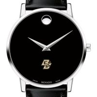 Boston College Men's Movado Museum with Leather Strap
