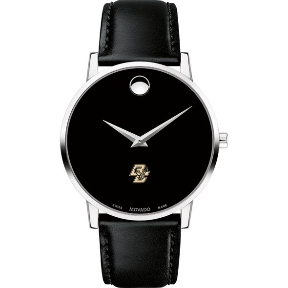 Boston College Men's Movado Museum with Leather Strap - Image 2