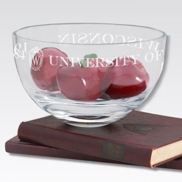 """Wisconsin 10"""" Glass Celebration Bowl"""