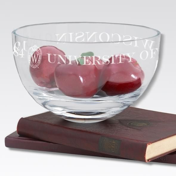 "Wisconsin 10"" Glass Celebration Bowl - Image 2"