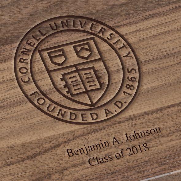 Cornell University Solid Walnut Desk Box - Image 3