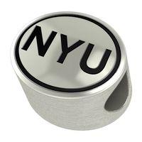 NYU Enameled Bead in Black