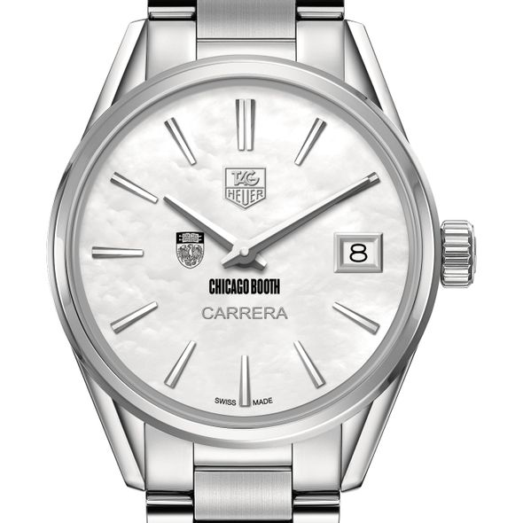 Chicago Booth Women's TAG Heuer Steel Carrera with MOP Dial - Image 1