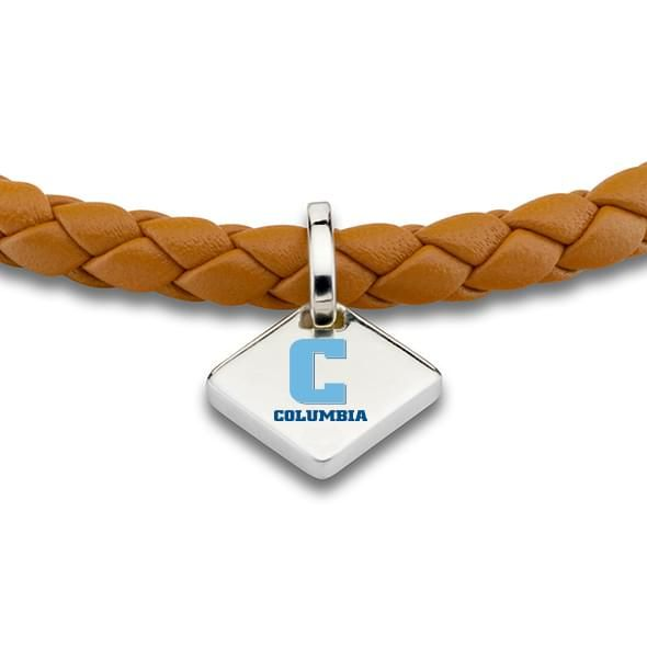 Columbia Leather Bracelet with Sterling Silver Tag - Saddle - Image 2