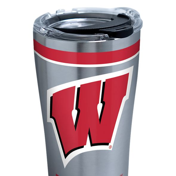 Wisconsin 20 oz. Stainless Steel Tervis Tumblers with Hammer Lids - Set of 2 - Image 2