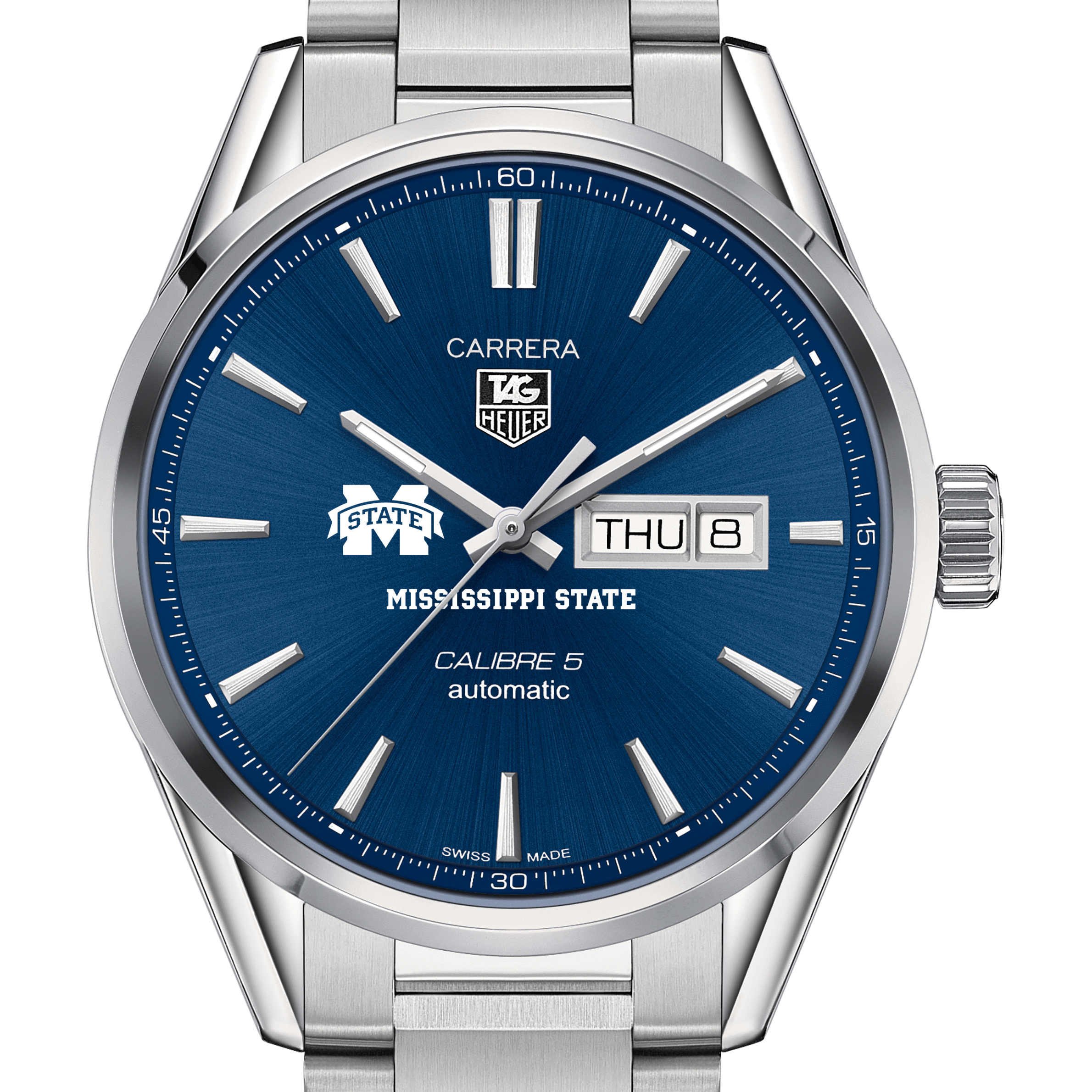 Mississippi State Men's TAG Heuer Carrera with Day-Date
