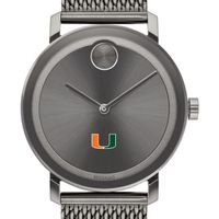 University of Miami Men's Movado BOLD Gunmetal Grey with Mesh Bracelet