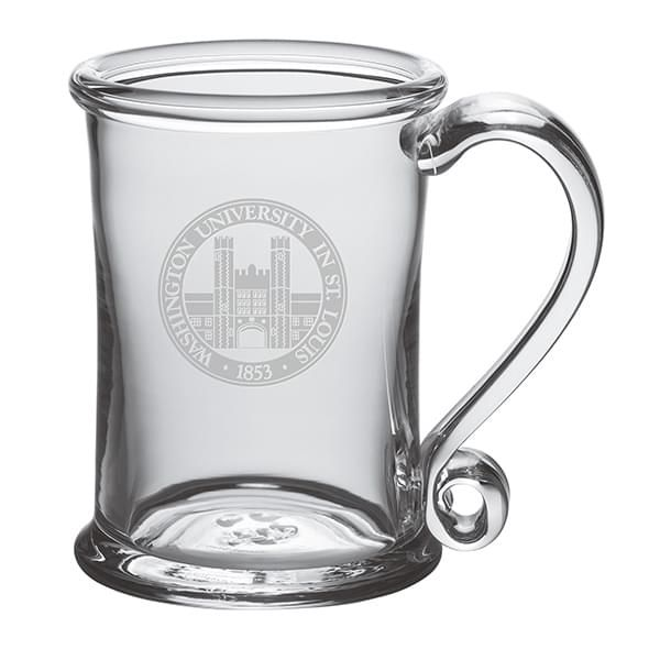 WUSTL Glass Tankard by Simon Pearce