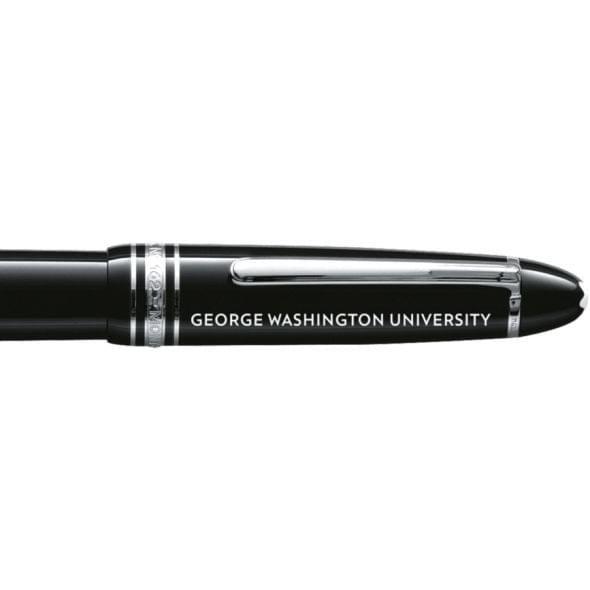 George Washington University Montblanc Meisterstück LeGrand Rollerball Pen in Platinum - Image 2