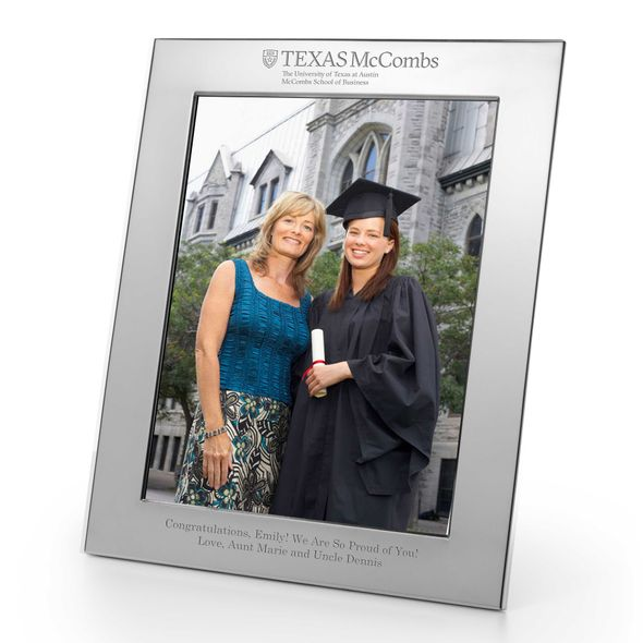 Texas McCombs Polished Pewter 8x10 Picture Frame - Image 1