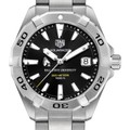Ball State Men's TAG Heuer Steel Aquaracer with Black Dial - Image 1