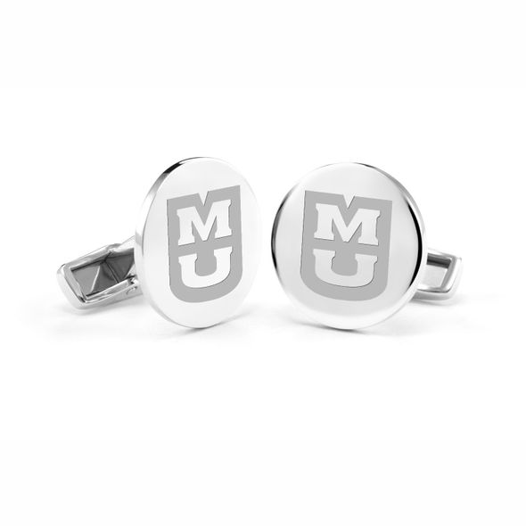 University of Missouri Cufflinks in Sterling Silver - Image 1