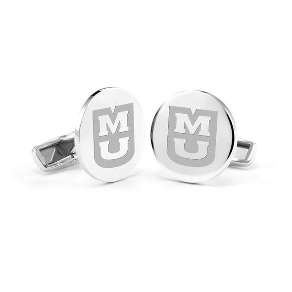 University of Missouri Cufflinks in Sterling Silver